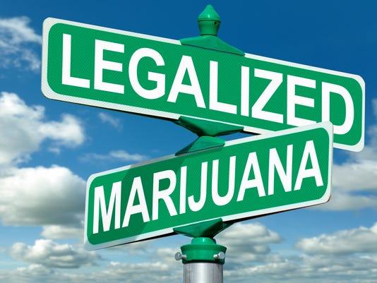Legalized Marijuana Street Sign