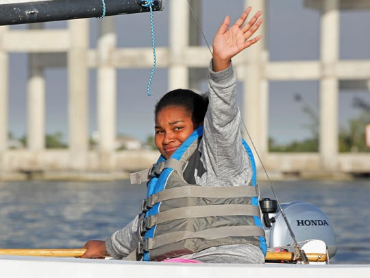 Makayla Jones of the Gifford Middle School Squadron