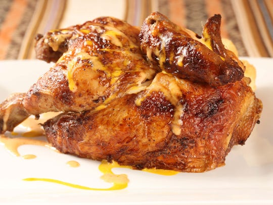 Tender as can be rotisserie chicken at  Costenara in