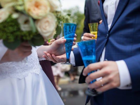 wedding, celebration, just married