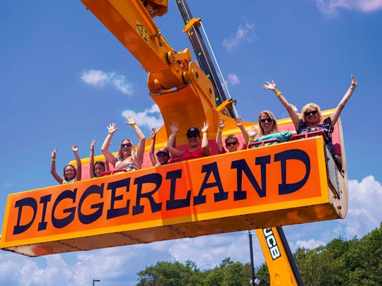 Visiting Diggerland USA. Get a bird's eye view and