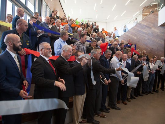 Members of the community gather at the Dixie Technical