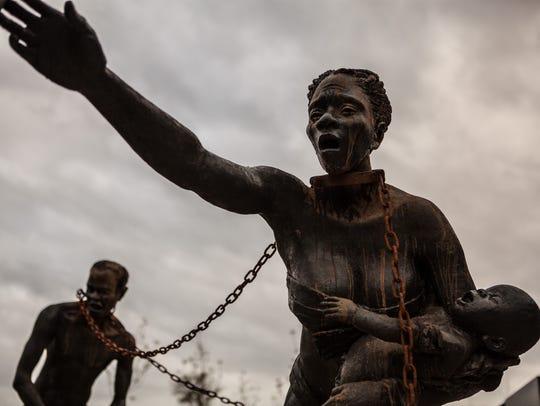 Ghanaian artist Kwame Akoto-Bamfo created a sculpture
