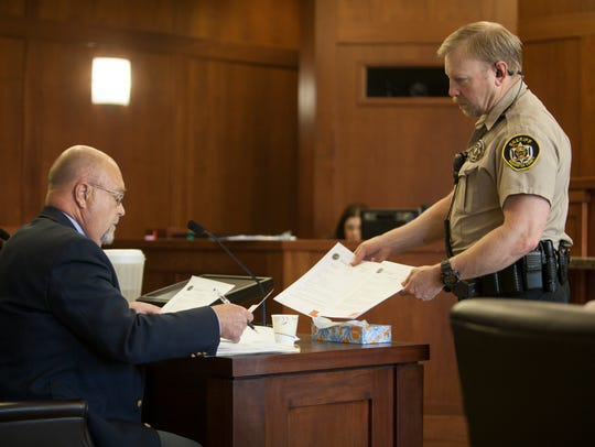 Defense attorney Steven Harris during the case of a