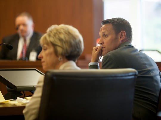 Deputy County Attorney Eric Gentry during the case