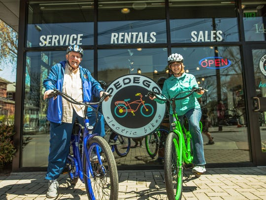 Pedego Louisville owners Frank and Karen Muscato