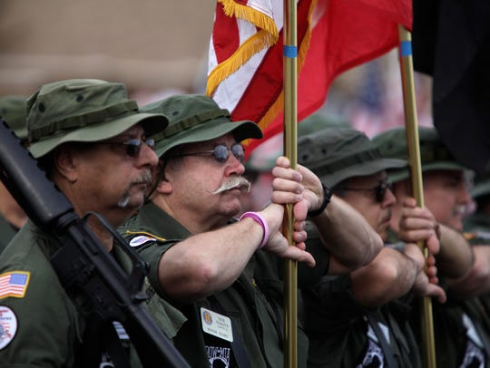 Members of the Vietnam Veterans Honor Guard Chapter