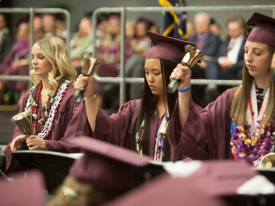 Pine View High School commemorates the graduation of their 2018 class at the Burns Arena Thursday, May 24, 2018.