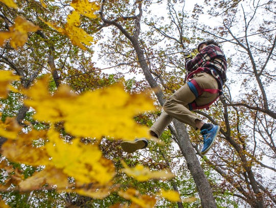 Ziplining with Sky Tours at YMCA Union Park Camp in