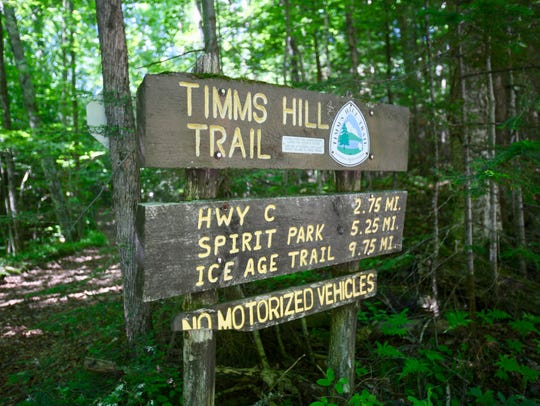 The 10-mile Timm's Hill Trail runs from Timm's Hill