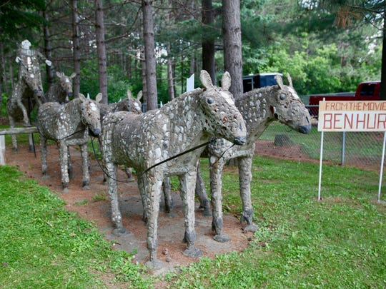 Self-taught artist Fred Smith created more than 230 concrete sculptures at his home south of Phillips, now protected as part of Wisconsin Concrete Park.