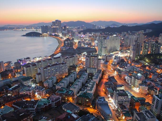 "No. 1: Busan, South Korea. """"A stunning confluence"