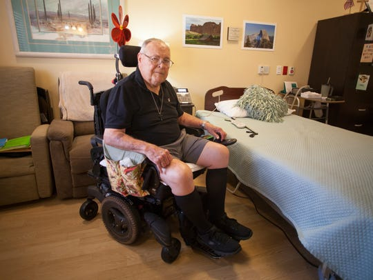 Klair Mendenhall, a resident at the Southern Utah Veteran