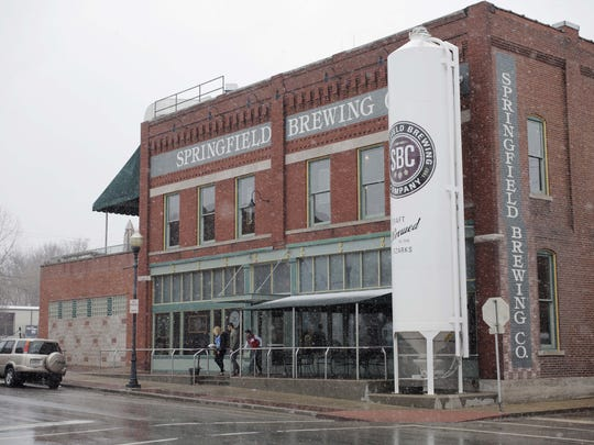 Exterior of the Springfield Brewing Company on Market