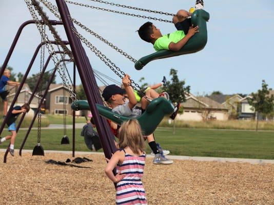 Swings at Kids Inc.