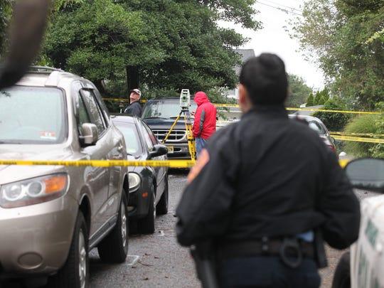 Scene of the stabbing on Van Pelt Place in Long Branch.