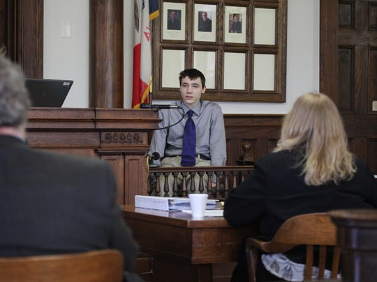 Cody Metzker-Madsen testifies during his first-degree murder trial