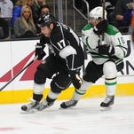 Los Angeles Kings left wing Milan Lucic (17) moves