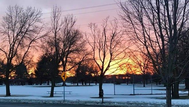 Foot Notes reader Jennifer Przybilla, from Coon Rapids (Minn.), shares this photo taken during a sunset run in Minneapolis.