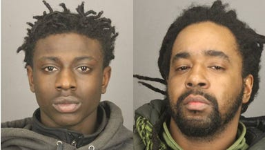 Tyshaun Lenear (left) and Cassius Hardaway were arrested by Rochester police and charged with criminal posession of a weapon