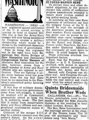 This editorial from the April 8, 1947 Lancaster Eagle-Gazette.