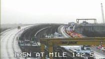 Traffic backs up on southbound I-75 near the Bayshore Blvd. exit in North Fort Myers due to a crash near Palm Beach Boulevard at mile marker 140.