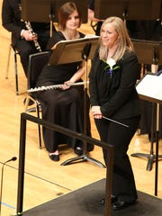 Director Jennifer Bell and the McNary High School Wind Ensemble perform during the OSAA 6A Band State Championships on Saturday, May 14, 2016, at the LaSells Stewart Center at Oregon State University in Corvallis. The Celtics placed third.