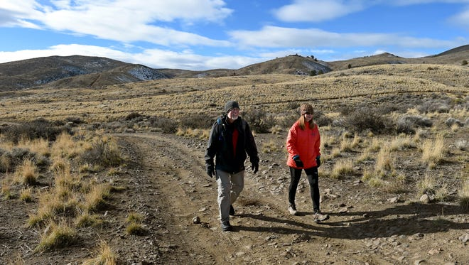Kent Ervin and Marilee Wintz of Reno say they've had close encounters with bullets on Peavine Mountain.