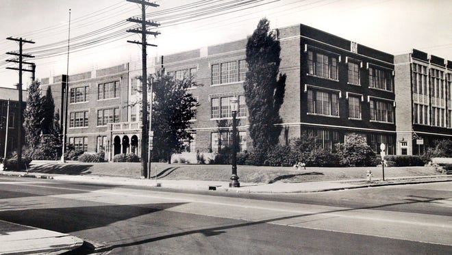 Photo of Crispus Attucks High School from the 1940s.