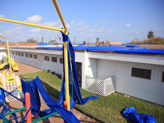Sacred Heart School in Rockport had extensive damage
