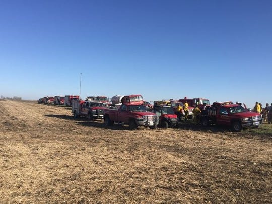 More than 90 firefighters worked to put out a fire