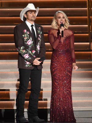 Brad Paisley and Carrie Underwood are set to host their ninth CMA Awards show on Nov. 8.