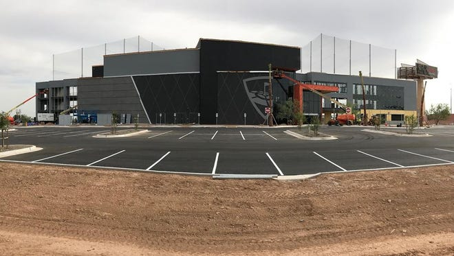 Topgolf's Glendale location is under construction.