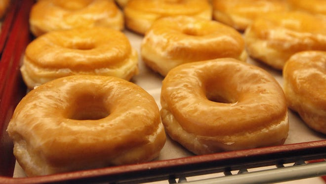 FILE PHOTO: Yeast glazed doughnuts are on display. Concannon's Bakery Cafe serves hot meals throughout the day and offers bakery items.