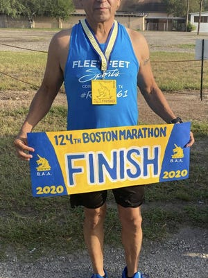 Ernie Flores was a qualifier for this years' Boston Marathon by meeting the time requirements for his age group.