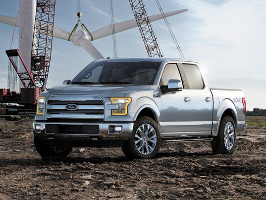 it sheds 700 pounds to improve gas mileage and a choice of two more engines 2015f150windmill ford 2015 f 150