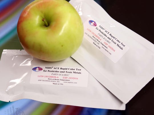 ANP Technologies, a Newark based biotech company that creates test for pesticides and toxic metals, has partnered with St. Georges High School's Biotechnology classes to teach students how to test for the poisons in fruits in vegetables.