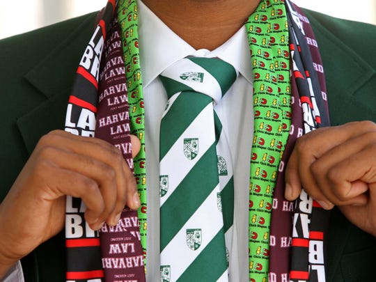 15 year-old Shreyas Parab created a tie for his school uniform at Archmere Academy.