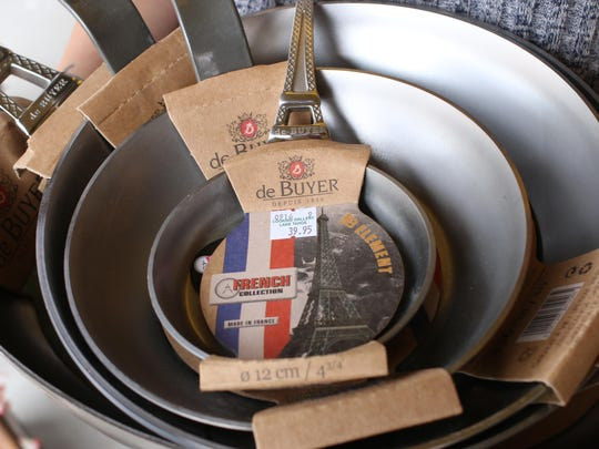 De Buyer pans from France sport an organic beeswax finish that prevents oxidation and promotes the pans' nonstick quality.