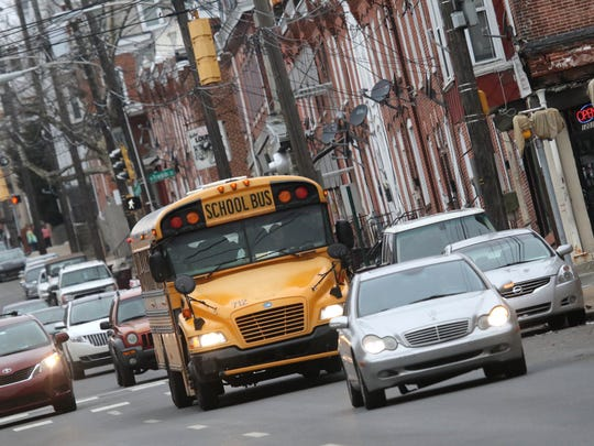School buses return to the City of Wilmington with students attending schools in the suburbs.