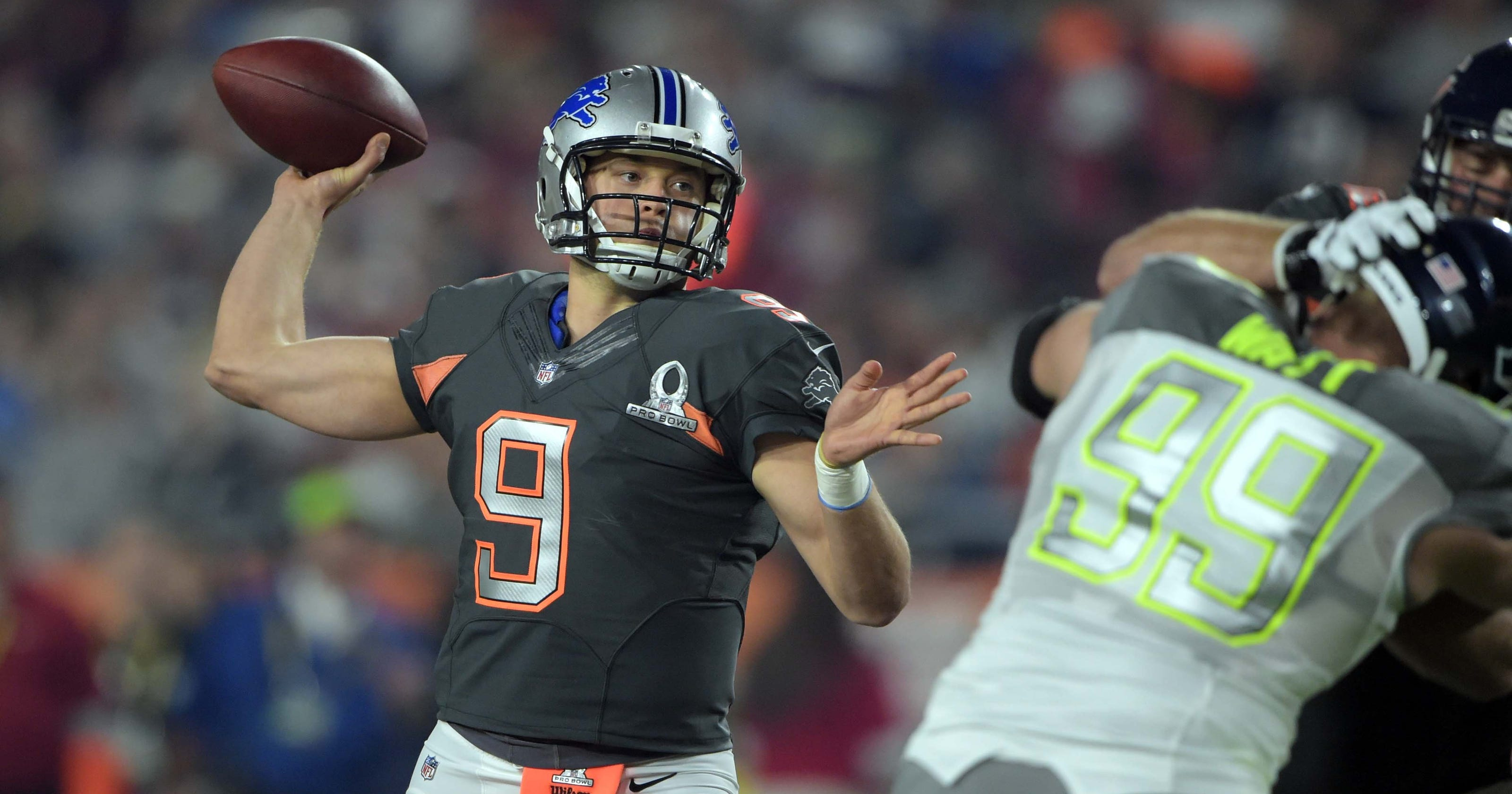 42bf1e07aef Detroit Lions  Matthew Stafford named Offensive MVP in first Pro Bowl