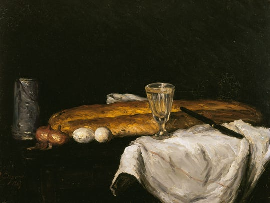 """Still Life with Bread and Eggs,"" 1865 (oil on canvas)"