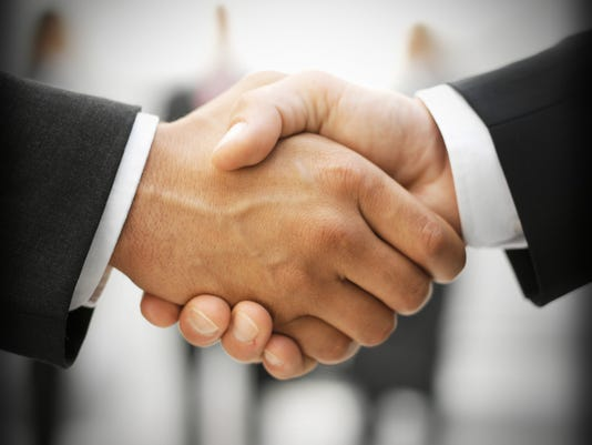 Presto graphic handshake deal business