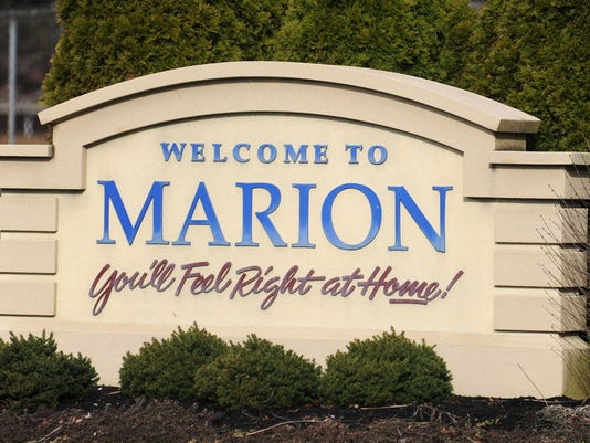 stock image of Welcome to Marion sign
