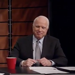 John McCain and Al Franken had a faux debate about the Cardinals and Vikings.