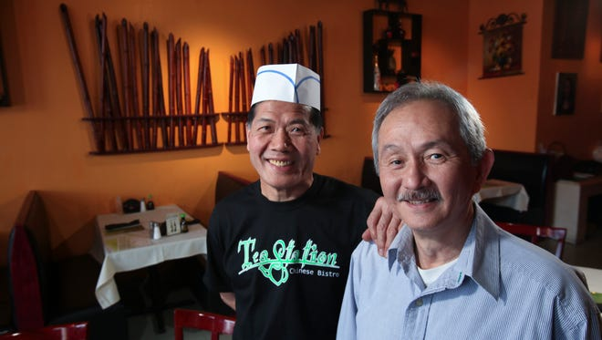 General manager/partner Roland Wong, right, and chef John Tsai at the Tea Station Chinese Bistro.