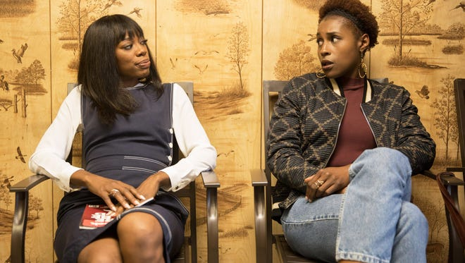 Yvonne Orji and Issa Rae on 'Insecure.'