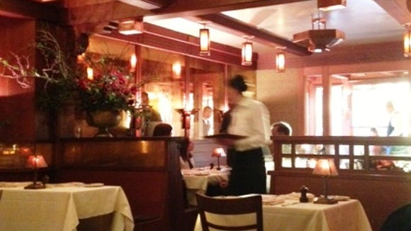 The dining room at Chez Panisse. The restaurant offers a $65, three-course dinner on Monday nights. Every seat was taken.