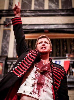 """Patrick Earl as Andrew Jackson in """"Bloody Bloody Andrew Jackson."""""""