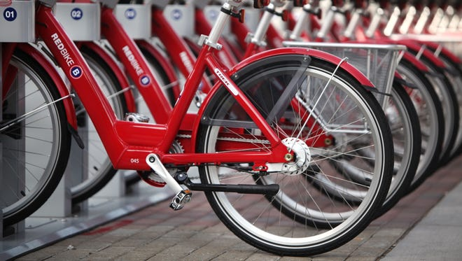 Red Bike, Cincinnati's first bike sharing program, officially opened on Monday.